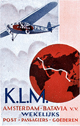K.L.M. baggage label
