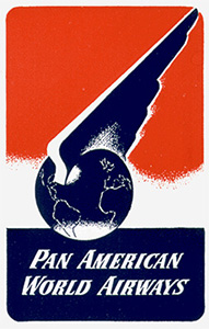 Pan American Airways Étiquette de bagage