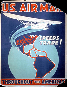 US Air Mail Speeds Trade