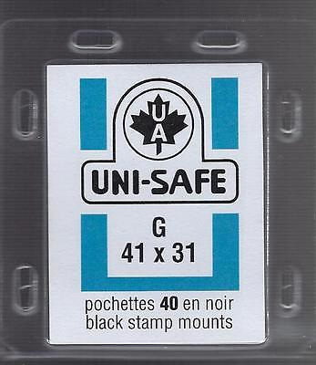 Uni-Safe black stamp mounts 41x31