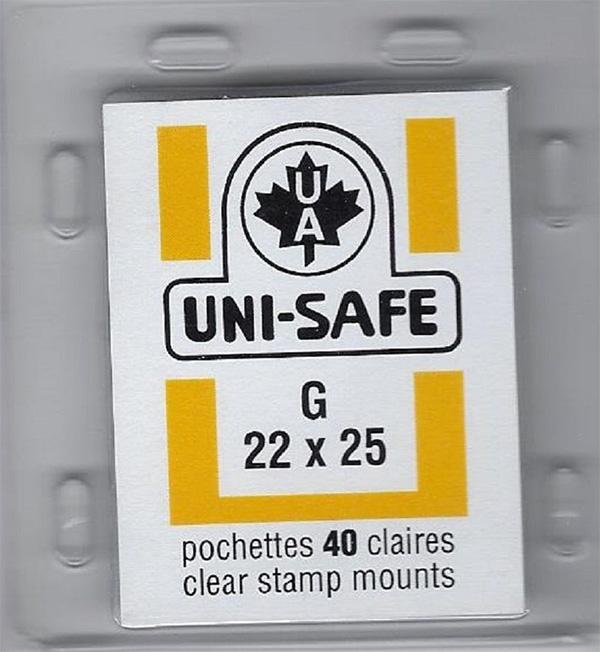 Uni-Safe clear stamp mounts 22x25