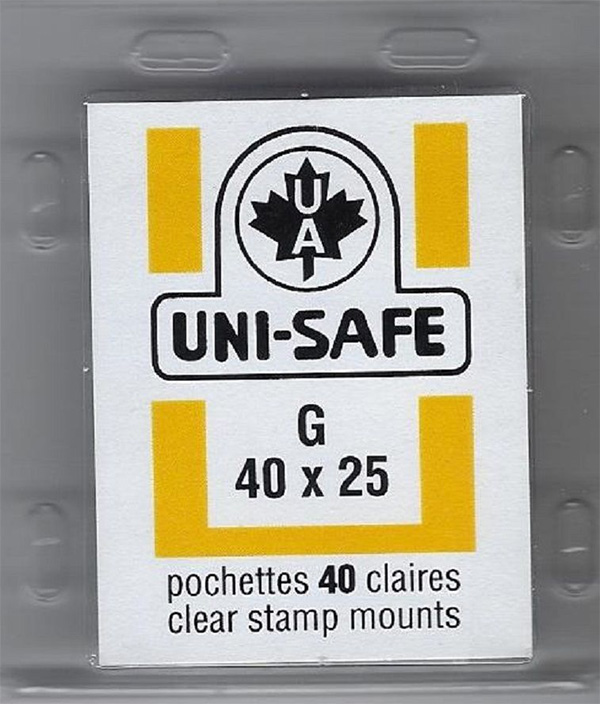 Uni-Safe clear stamp mounts 40x25