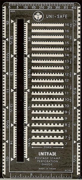 Uni-safe Slotted Metal Perforation Gauge
