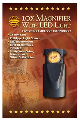 10X Pocket Magnifier with LED Light