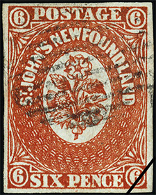 1857 - Rose, Thistle and Shamrock - Canadian stamp - Stamps of Canada