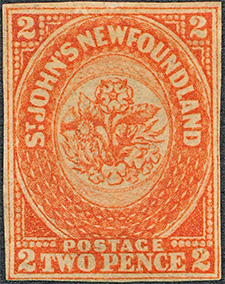 Rose, Thistle and Shamrock 1860 - Canadian stamp