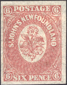 Rose, Thistle and Shamrock 1862 - Canadian stamp