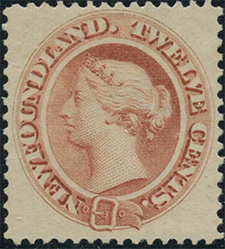 Queen Victoria 1865 - Canadian stamp