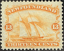 1865 - Fishing - Canadian stamp - Stamps of Canada