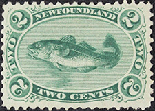 Codfish 1865 - Canadian stamp