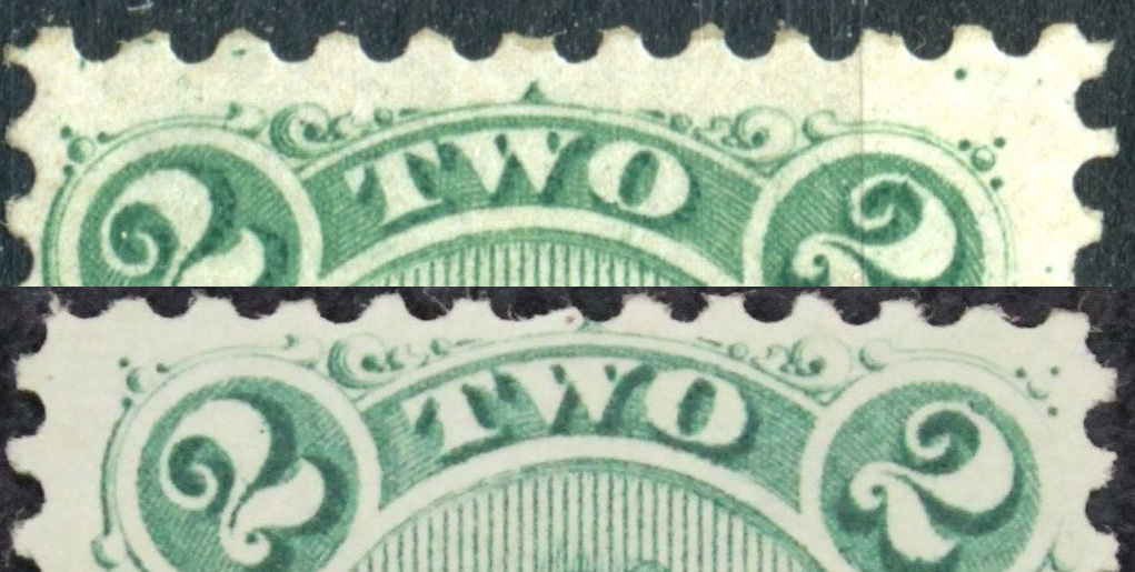 Codfish - 2 cents 1865 - Canadian stamp - Scott #24a - Thin yellowish paper