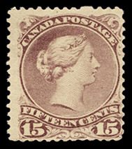 1868 - Reine Victoria - Canadian stamp - Stamps of Canada