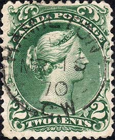 Queen Victoria  1868 - Canadian stamp