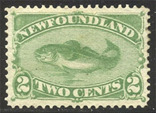 1880 - Codfish - Canadian stamp - Stamps of Canada