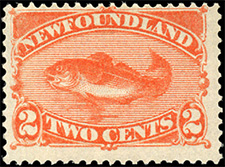 1887 - Codfish - Canadian stamp - Stamps of Canada