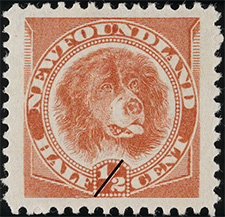 1896 - Newfoundland Dog - Canadian stamp - Stamps of Canada