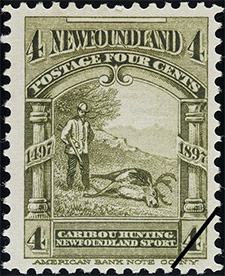 1897 - Caribou Hunting - Canadian stamp - Stamps of Canada