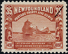 Coast Scenery 1897 - Canadian stamp