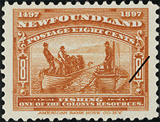 1897 - Fishing - Canadian stamp - Stamps of Canada