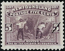 1897 - Mining - Canadian stamp - Stamps of Canada