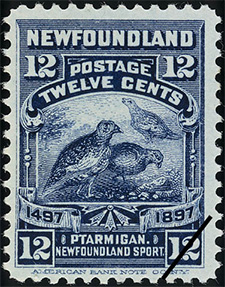 1897 - Ptarmigan - Canadian stamp - Stamps of Canada