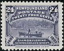 1897 - Salmon Fishing - Canadian stamp - Stamps of Canada