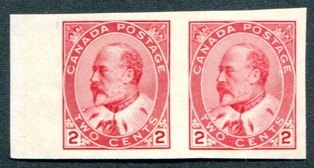 King Edward VII - 2 cents 1903 - Stamp Canada - Imperforate - Pair