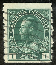 1912 - Roi Georges V - Canadian stamp - Stamps of Canada