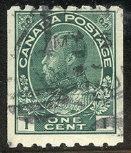 1913 - Roi Georges V - Canadian stamp - Stamps of Canada