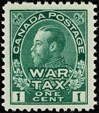 King Georges V 1915 - Canadian stamp