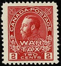 King Georges V 1915 - Canadian stamp