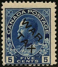 1915 - King Georges V - Canadian stamp - Stamps of Canada