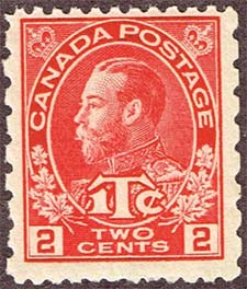 1916 - King Georges V - Canadian stamp - Stamps of Canada