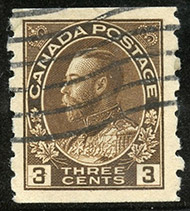 1918 - Roi Georges V - Canadian stamp - Stamps of Canada