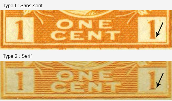 Roi Georges V - 1 cent 1922 - Stamp Canada - Orange yellow - Type II