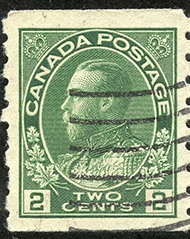 1922 - Roi Georges V - Canadian stamp - Stamps of Canada