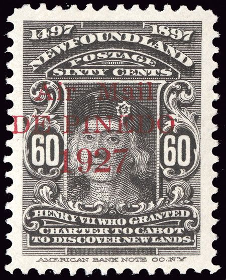 Air mail - 60 cents 1927 - Newfoundland overprint - Scott #C4