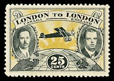 London to London Flight - 25 cents 1927