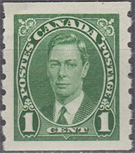 1937 - Roi Georges VI  - Canadian stamp - Stamps of Canada