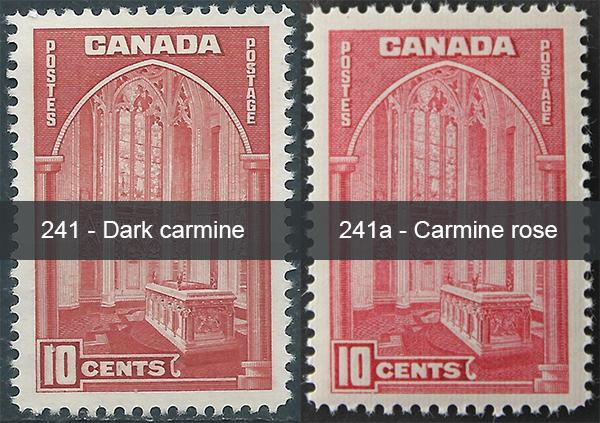 Parliament - 10 cents 1938 - Canadian stamp - 241a - Carmine rose - Dark carmine