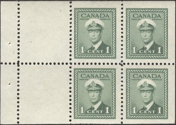Stampsandcanada - King George VI - 1 cent 1942 - Stamps of
