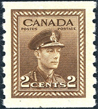 1942 - King George VI  - Canadian stamp - Stamps of Canada
