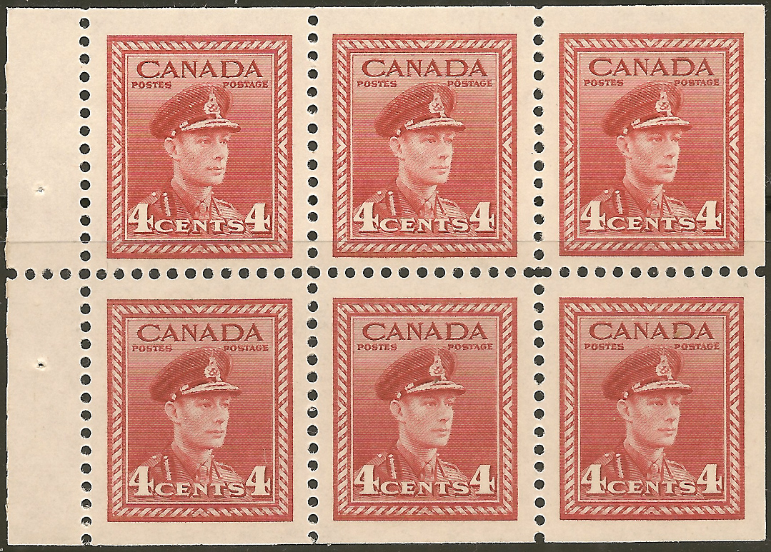 King George VI - 4 cents 1943 - Canadian stamp  - 254a