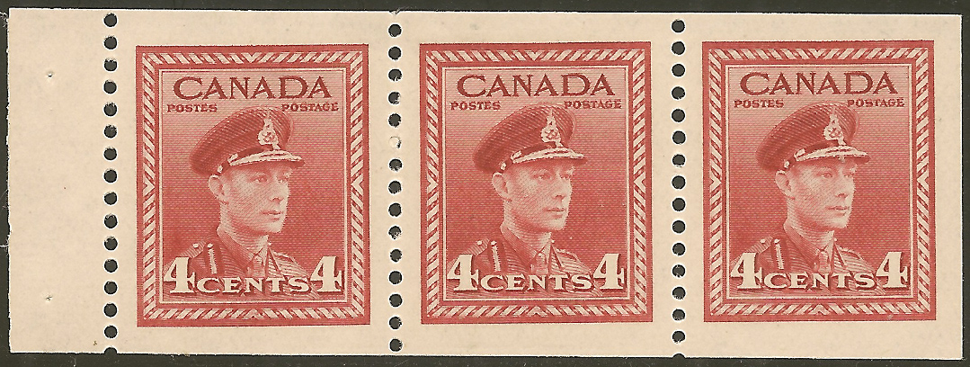 King George VI - 4 cents 1943 - Canadian stamp  - 254b