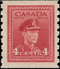 1943 - King George VI - Canadian stamp - Stamps of Canada