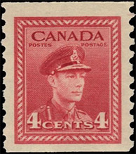 1948 - King George VI - Canadian stamp - Stamps of Canada