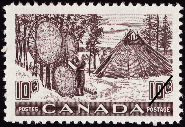 1950 - Canada's Fur Resources - Canadian stamp - Stamps of Canada