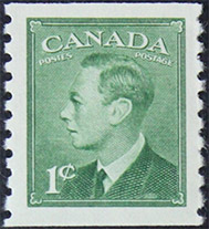1950 - King George VI - Canadian stamp - Stamps of Canada