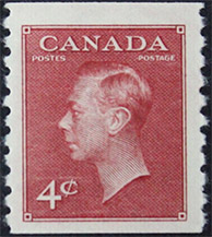 King Georges VI 1950 - Canadian stamp