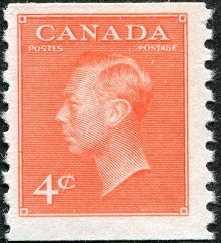 Stampsandcanada - King Georges VI - 4 cents 1951 - Stamps of